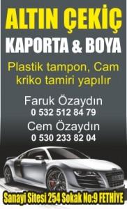 ALTIN ÇEKİÇ KAPORTA & BOYA